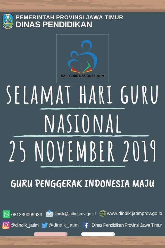 Selamat Hari Guru Nasional 2019