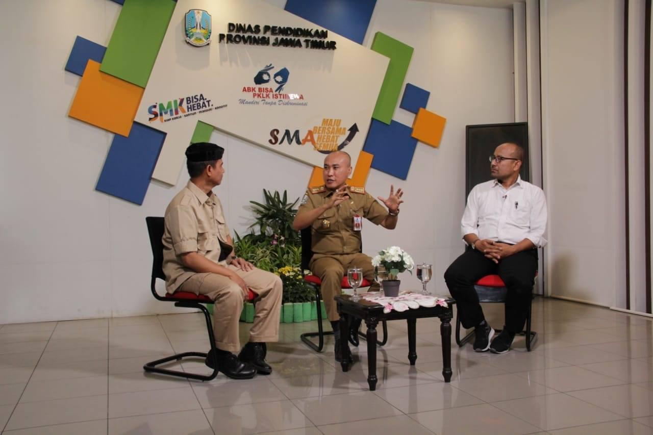 Dinas Pendidikan Provinsi Jawa Timur Mengadakan Dialog Kebijakan dan Kesiapan Di  Stasiun Televisi JTV