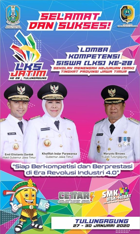 Lomba Kompetensi Siswa Sekolah Menengah Kejuruan (LKS SMK) Tingkat Provinsi Jawa Timur Ke XXVIII Tahun 2020