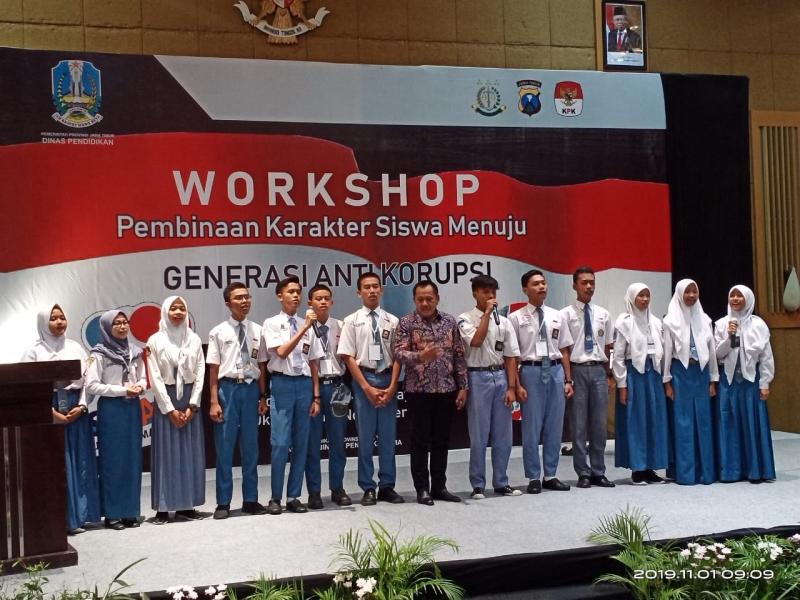 Dindik Jatim Gelar Workshop Generasi Anti Korupsi Untuk Pelajar